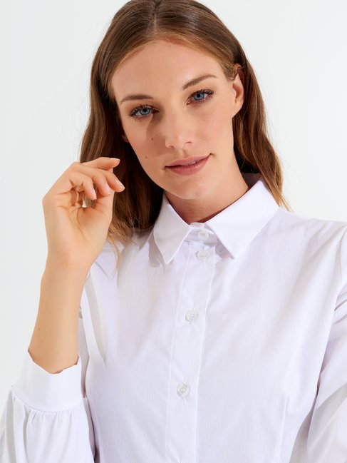 Fitted shirt with tie White - CFC0099577003B021