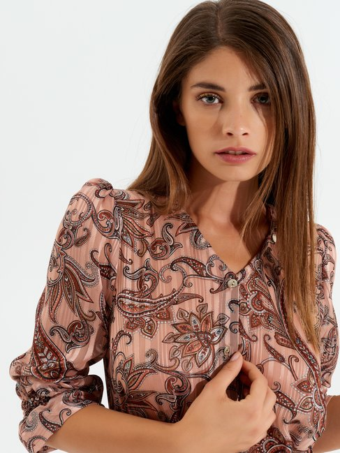 Robe courte à motif en cachemire var. Ruggine - CFC0099613003B423