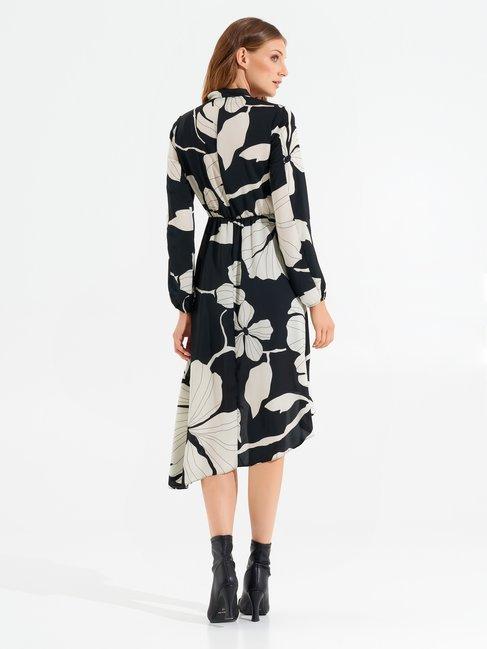 Asymmetrical foliage dress var white - CFC0099707003B434