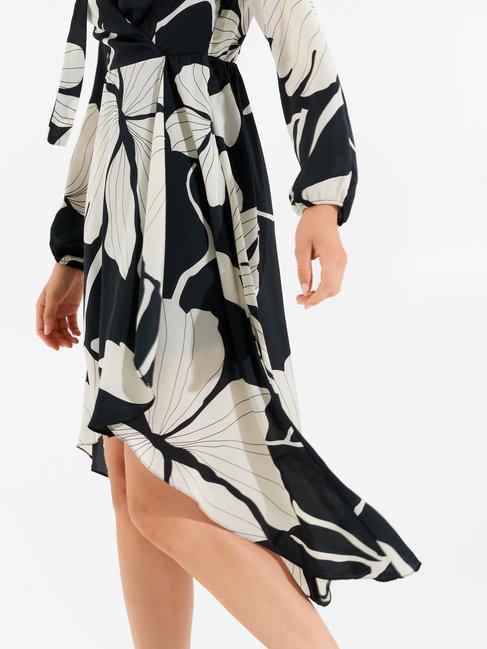 Robe asymétrique Foliage var. Bianco - CFC0099707003B434