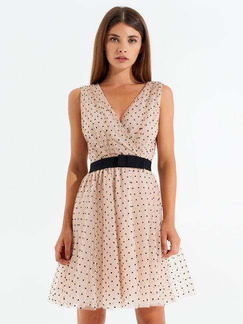 Polka dot tulle dress Pink - CFC0099833003B221