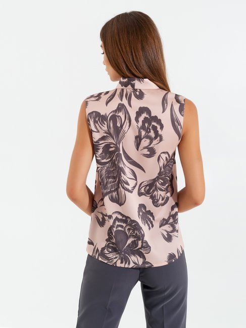 Flower bow blouse Pink - CFC0099921003B221