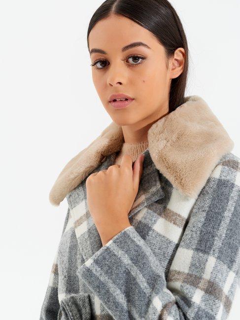 Check coat var grey pearl - CFC0099955003B458