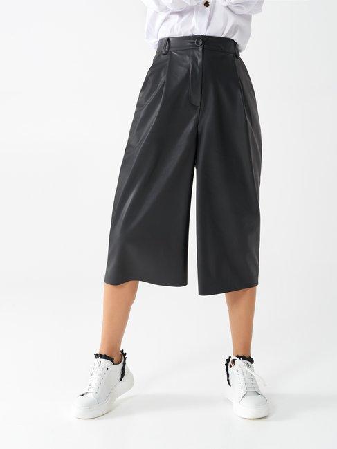 Faux leather culottes Black - CFC0100608003B001