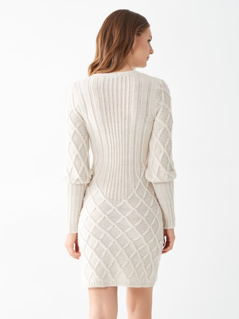 Knitted dress White Cream - CFM0009767003B036