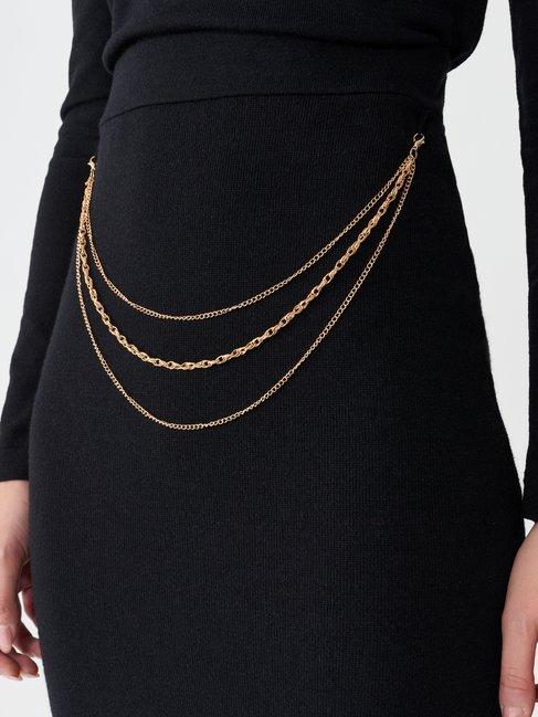 Chain pencil skirt Black - CFM0010000003B001
